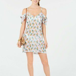 NWT Miken Swim Pineapple Cold Shoulder Coverup M